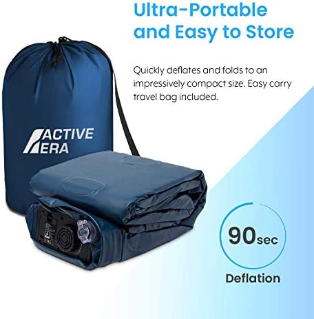 Active Era Air Mattress with Built-in Pump - Elevated Inflatable Airbed - Puncture Resistant Airbed with Waterproof Flocked Top