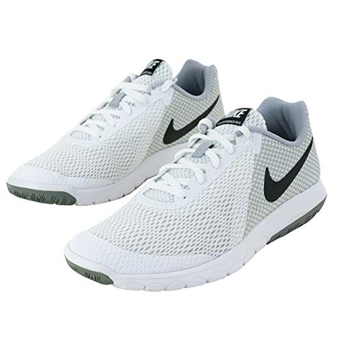 NIKE Mens Flex Experience RN 6 White Black Wolf Grey Size 6.5