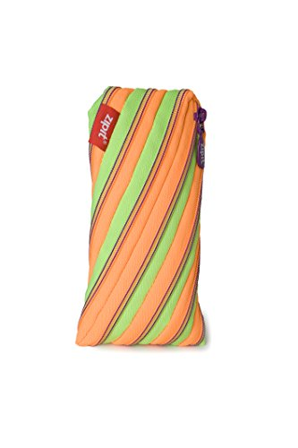 ZIPIT Twister Pencil Case, Lime and Orange