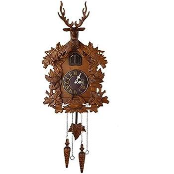 alpha-ene.co.jp Home & Kitchen Clocks Sculpted Deer Cuckoo Clock ...