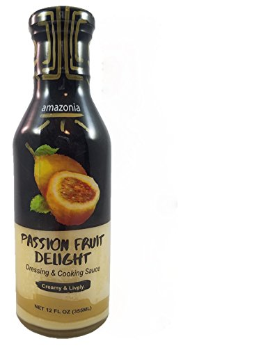 Buy One - Get One Free!!! - Amazonia's Gourmet Dressing and Cooking Sauce Variety 2-Pack Value (Passion Fruit and Pineapple), Gluten-Free, No Trans Fat, 100% Natural Flavors - 24 ounces by Amazonia (Image #1)