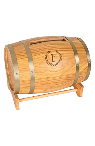 Concepts Cathys Decoration Table (Cathy's Concepts 3940-E Personalized Wine Barrel Card Holder)