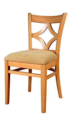 Beechwood Mountain BSD-23S-N Solid Beech Wood Side Chairs in Natural for Kitchen and dining, set of (Beechwood Fully Upholstered Chairs)
