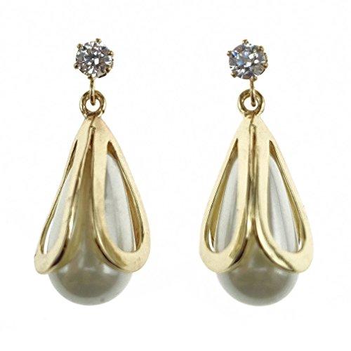 Ehvan® mesdames Senhora Paras série perle seule étoile latin millésime Royal & classique boucle d'oreille goutte moyen,Doré