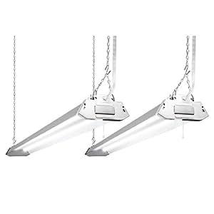 Lights of America 4-foot LED Shoplight (Pack 2)