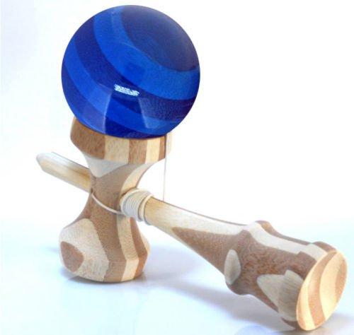 BAMBOO-KENDAMA-With-Translucent-BLUE-Ball-Extra-String