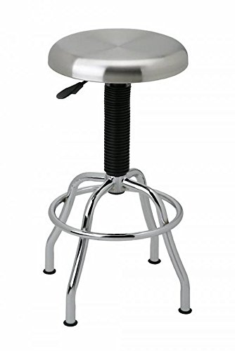 Seville Classics Commercial Stainless Steel Top Work Stool,