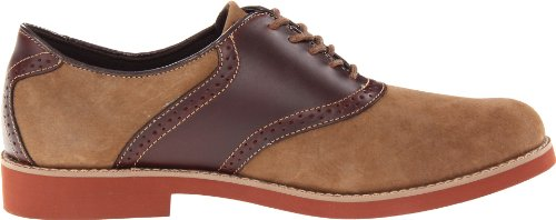 Eastland Mens Saddleback Tan Pelle Scamosciata Oliata / Pelle Marrone