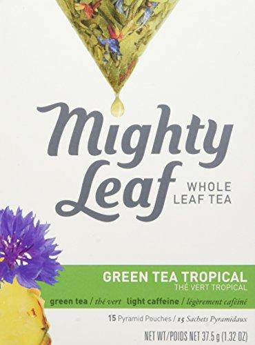 Mighty Leaf Green Tea, Tropical, 1.32oz 15 Pouches (Tea Mint Leaf Mighty)