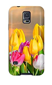 Ultra Slim Fit Hard Bridget Robertson Case Cover Specially Made For Galaxy S5- Tulip