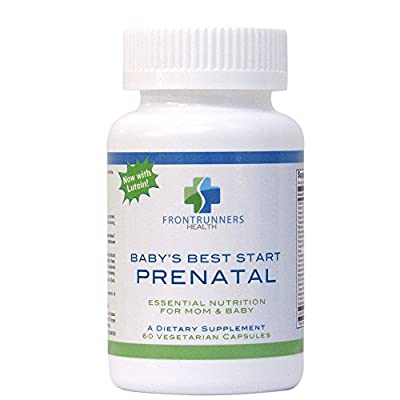 Prenatal Vitamins with Folate (Methylfolate) and Lutein (Vegetarian). Best Prenatal Vitamins for Nausea. No GMOs,Gluten or Soy. Great Vitamins for Hair Growth. Baby's Best Start by Frontrunners Health
