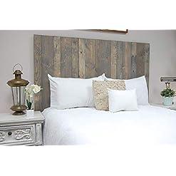 Bedroom Coastal Gray Headboard California King Size Stain, Hanger Style, Handcrafted. Mounts on Wall. Easy Installation farmhouse headboards