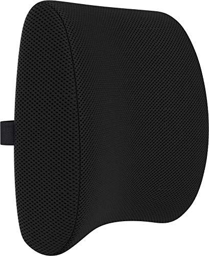 Bonmedico Cojin Lumbar - Respaldo Lumbar para Silla Ergonomico de Espuma de Memoria, Se Ajusta a su Espalda y es Ideal para Silla de Oficina y para el Coche, Negro