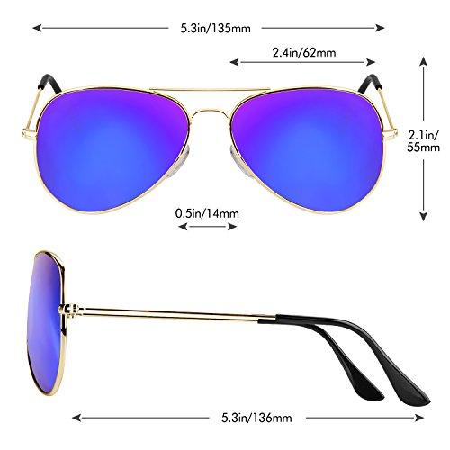 sol Gafas Ice de de gafas Polarizadas Estilo PROKING gafas Moda UV400 de Retro del Gafas Sol mujer hombre Vintage Blue Metal 7TgqHHdxwp