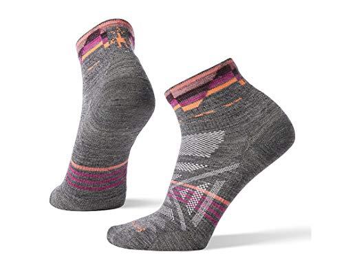 Light Mini Outdoor Socks (Smartwool Women's PhD Outdoor Ultra Light Pattern Mini, Medium Gray, M)