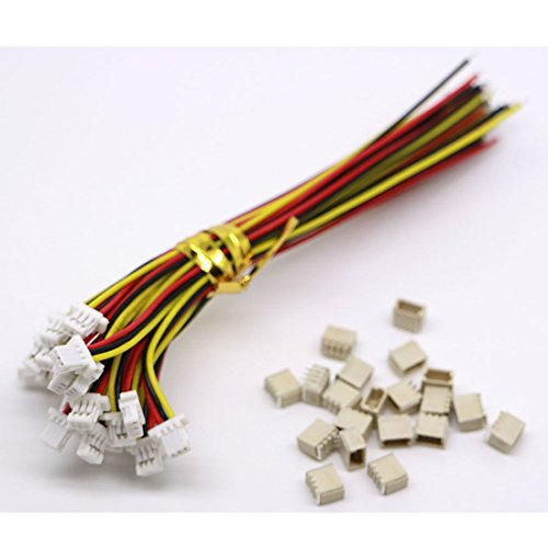 20 Sets Mini Micro Sh 1.0 Jst 3-Pin Connector Plug Male With 100Mm Cable & Female (3 Pin Female Mini)