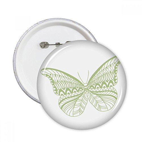 Kite Butterfly Clothing (Green Butterfly Kite Round Pins Badge Button Clothing Decoration Gift 5pcs)