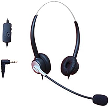 Amazon Com Comdio 2 5mm Call Center Headset Headphone With Mic Volume Mute Controls For Panasonic Kx Nt136 Kx Nt343 Kx Nt346 Kx Nt366 Kx T7603 Ip Telephone And Cordless Phones With 2 5mm Headset Jack H403vp4 Office Products