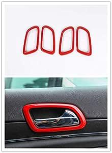 Carbon Fiber Highitem Newest Interior Door Bowl Trims Sticker Bezel Outlet Covers Sticker for Jeep Grand Cherokee 2011-2019