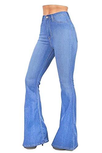 Pantaloni Blu Cut Le Jeans Vita Donne Fit Jean Boot 2color Alte Slim Skinny TTqInHwPg