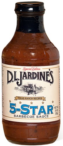 D.L. Jardines 5-Star BBQ Sauce 18 oz(Pack of 4)