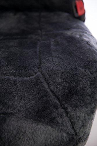 Sheepskin Car Seat Covers, Premium Set of 2, Genuine Australian Sheepskin Front, Universal Size, Back Storage Pocket, Stylish Design, Gray Color by Eden & Main (Image #3)