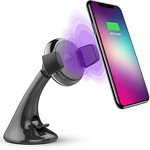 Dakik Wireless Car Charger - Car Wireless Charger for Apple iPhone X/8/8 Plus, Samsung Galaxy Note 8/S8/S8 Plus/S7/S6 Edge Plus/Note 5 and All QI-Enabled Devices Upgraded 10W, USB Car Charger (DK 30)
