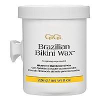 Fórmula de microondas de cera de bikini brasileña Gigi, 8 onzas