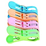 Morza 4pcs Plastic Clothes Socks Laundry Tongs Large Strong Wind Proof Multifunctional Towel Quilt Clips