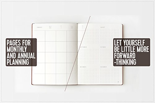Weekly Planner Organizer Will Help You to Keep Work-Life Balance & Achieve a Little More Goals - NO DATES Calendar Planner A5 Size (8 X 6) - Dotted Notebook for Man and Women 2017 / 2018 / 2019 Photo #2