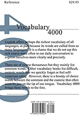 Vocabulary 4000: The 4000 Words Essential for an Educated