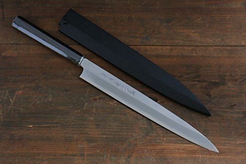 SAKAI TAKAYUKI BYAKKO (WHITE TIGER) WHITE STEEL NO.1 YANAGIBA SLICER JAPANESE SUSHI CHEF KNIFE