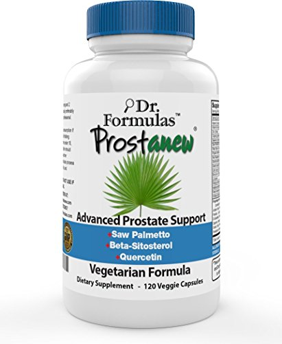 Prostanew Saw Palmetto Extract Beta-Sitosterol Copper Pygeum Pumpkin Lycopene Quercetin Prostate Health Supplement, 120 Count