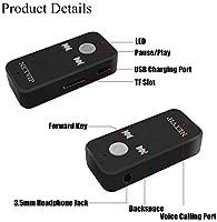 NETVIP Receptor Bluetooth Adaptador Audio Inal/ámbrico Kit Bluetooth 4.1,Manos Libres Kits con Salida Est/éreo 3.5mm Aux Jack para Casa y Sistema de Audio Est/éreo de Coche
