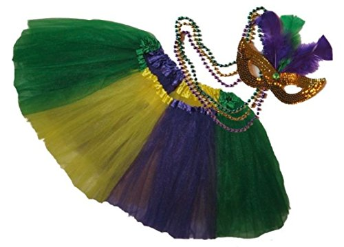 Southern Wrag Company USA Big Girls Adult Mardi Gras Tutu Set Measures 22-40in Length (Dance Costumes Companies Usa)