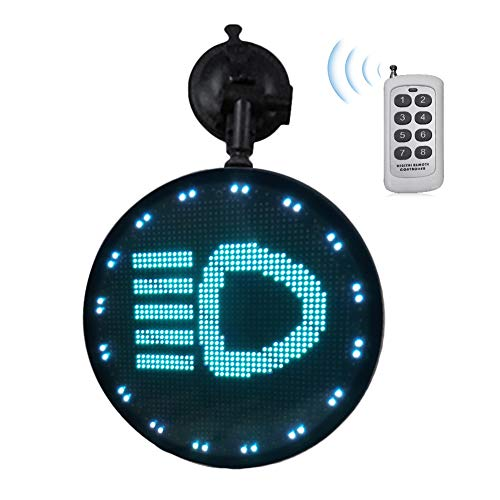 Tulas Controlled Emoji Car Display Glow LED Light Logo with Remote Control