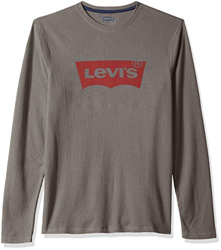 Levi's Men's Covington2 Thermal Knit Shirt, quiet shade/fashion wing, Large (Thermal Wings Shirt)