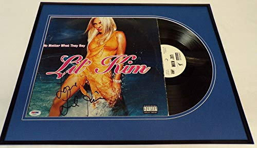 Lil Kim Signed Framed No Matter What They Say Vinyl Record Album Display PSA/DNA