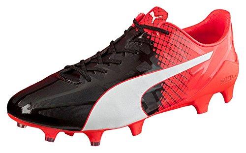 Puma Evospeed Sl-s Ii Fg, Botas de Fútbol para Hombre negro/blanco/rojo