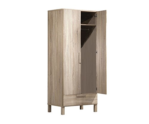 Dark Oak Wardrobe - Acme Furniture 98090 Odella Wardrobe, Light Oak