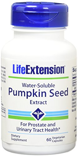 Life Extension Water-Soluble Pumpkin Seed Extract 60 Vegetarian Capsules (Pack of 2) ()
