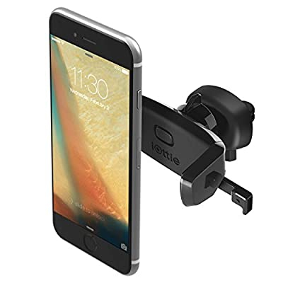 iOttie Easy One Touch Mini Air Vent Car Mount Holder Cradle for iPhone 7 7 Plus/ 6s Plus/6s/6, Samsung Galaxy S8 Edge S7 S6 Note 5, Nexus 6, & Smartphones