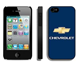 Hot Sale iPhone 4 4S Screen Cover Case With chevrolet logo Black iPhone 4 4S Case Unique And Beautiful Designed Phone Case