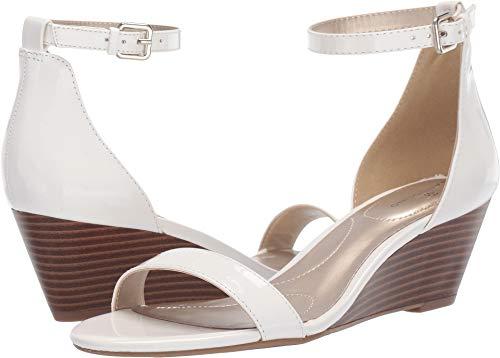 (Bandolino Women's OMIRA Wedge Sandal, White, 6 Medium US)