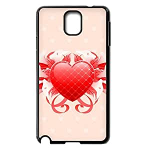 Floral Heart Samsung Galaxy Note 3 Cases, vety {Black}