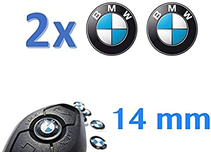 Logo adh/ésif r/ésin/é pour cl/é de t/él/écommande pour Voitures et Motos 14mm Effet 3D Couple dautocollants r/ésin/és