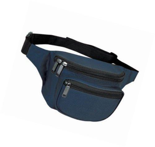 Yens® Fantasybag 3-Zipper Fanny Pack-Navy Blue FN-03