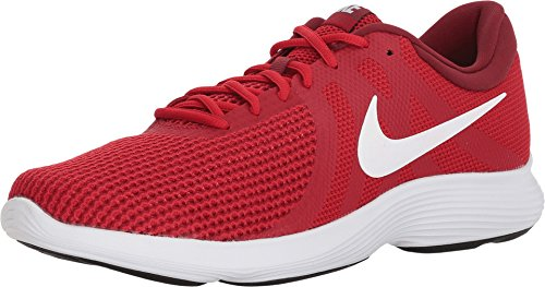 (Nike Mens Revolution 4 Gym RED White Team RED Black Size 13)