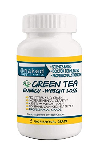 INTRODUCTORY PRICE - Focused Energy with Green Tea-No Jitters, No Crash, Smooth Increase in Energy, Boosts Mental Function, Helps Maintain Focus 60 Capsules by Naked Supplements