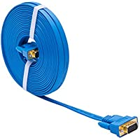DTECH Ultra Slim Flat Computer Monitor VGA Cable 25 Feet in Blue 8m